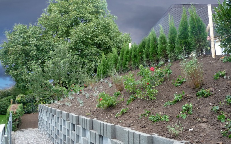 Sanierung Gartenmauer | Ottenbach