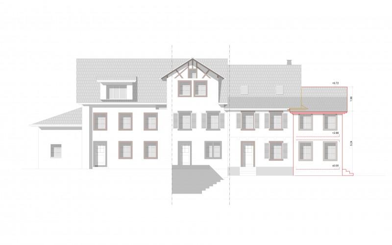 Baueingabe Anbau | Stallikon
